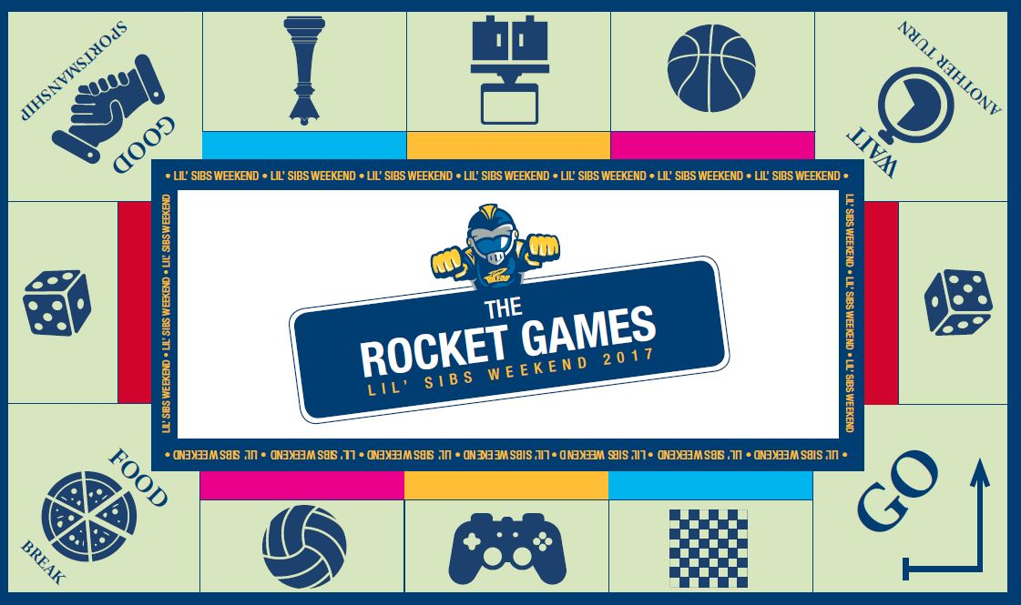 The Rockets Game game board graphic